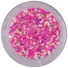 Hexagon cu efect holografic, în pulbere - roz intens, 1mm