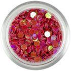 Hexagoane roşu închis cu reflexii, 3mm
