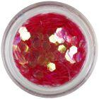 Hexagon roşu deschis - elemente aqua
