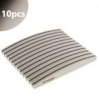 Pilă unghii Profi Sponge Halfmoon Zebra cu centru negru, 220/280 - 10buc