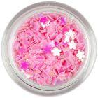 Confetti în forma unor flori mici - roz deschis
