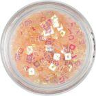 Confetti cu gaură - pătrate în culoare piersicii, nuanță deschisă