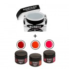 SET Bright Red - Gel Builder Blue 10ml + 3buc geluri DRY Color