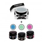 SET Pastel Summer - Gel Builder Blue 10ml + 3buc geluri DRY Color
