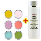 Set culori de bază 6buc + lichid acril 100ml GRATIS