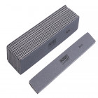 10buc - Pilă de unghii, placă gri cu centru negru. Lavabil și dezinfectant 80/80