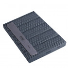 50buc - Pilă de unghii, dreptunghi gri cu centru negru, lavabilă și dezinfectantă 100/180
