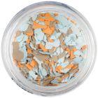 Fulgi de confetti cu o formă nedefinită - albastru deschis, portocaliu, maro