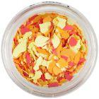 Fulgi de confetti cu o formă nedefinită - galben, portocaliu, roşu