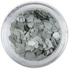 Fulgi de confetti cu o formă nedefinită - argintiu