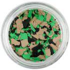 Fulgi de confetti cu o formă neregulată - maro, verde, negru