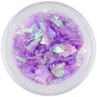 Fulgi de sclipici violet - nail art