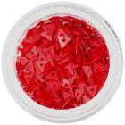 Triunghiuri decorative cu gaură, roşii