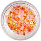 Confetti pentru unghii din material textil - inimi portocalii
