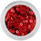 Decoraţiune pentru unghii - paiete rotunde, roşii, în formă de disc