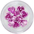 Trandafiri roz din ceramică, 10 buc