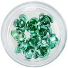 Decorațiuni ceramice pentru unghii - trandafiri verzi închis, 10 buc