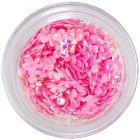 Decorații pentru unghii - fundițe roz deschis din material