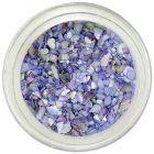 Scoici zdrobite pentru nail art –  albastre-violet deschis
