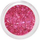 Decorațiuni nail art roz închis - scoici zdrobite