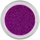 Decorații pentru unghii - perle 0,5mm, mov închis