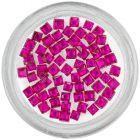 Strasuri pătrate - roz