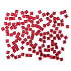 Decorațiuni roșii pentru unghii - ștrasuri pătrate, 140 bucăți