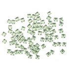 Strasuri pătrate - verde deschis, 50buc