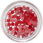 Flori mici decorative unghii - roșu perlat