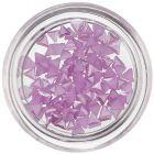 Triunghiuri perlate pentru decorarea unghiilor, mov