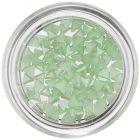 Triunghiuri decorative cu efect perlat - verde deschis